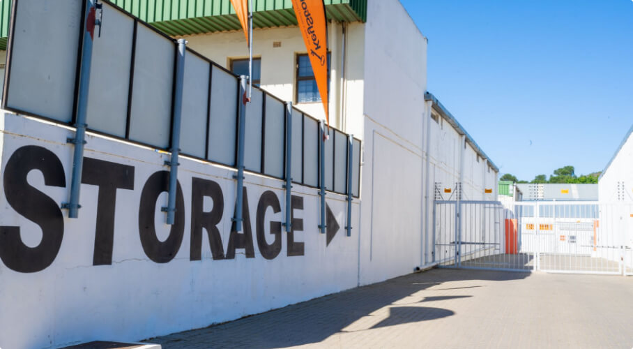 Entrance to the storage facility